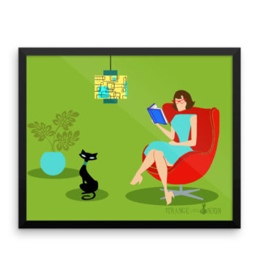 Retro Reading Woman