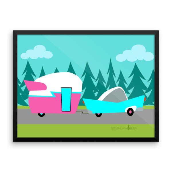 Retro Camper / Trailer and Car