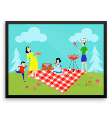 Retro Family Picnic