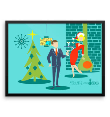 Retro Holiday Cartoon Couple