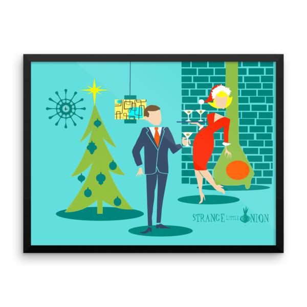 Retro Holiday Cartoon Couple
