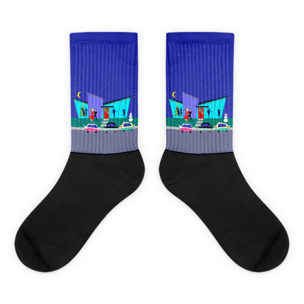 Retro holiday cartoon party black foot socks strange little onion - Unknown uses for an onion ...
