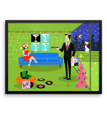 Retro Urban Christmas Couple